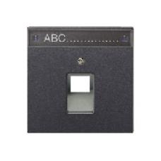 AL2969-1NAUAAN LS 990 Антрацит Накладка 1-ой наклонной ТЛФ/комп розетки с полем для надписи