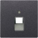 AL2969-1UAAN LS 990 Антрацит Накладка 1-ой наклонной ТЛФ/комп розетки