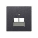 AL2969-2UAAN LS 990 Антрацит Накладка 2-ой наклонной ТЛФ/комп розетки