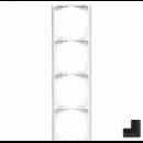 AL2984AN LS 990Антрацит(лакир. алюминий) Рамка 4-я