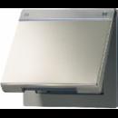 AL2990NAKL LS 990Алюминий Откидная крышка для розеток и изделий 50х50 с полем для надписи
