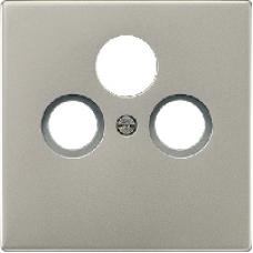 AL2990SAT LS 990 АлюминийНакладка TV-SAT-FM розетки