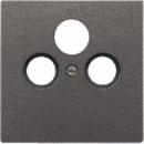 AL2990SATAN LS 990 АнтрацитНакладка TV-SAT-FM розетки