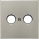 AL1561.07U LS 990 АлюминийНакладка светорегулятора/выключателя нажимного с индикацией