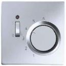 ALTR231PL LS 990 АлюминийНакладка термостатакомнатного с выключателем(мех TR231U,TR241U)