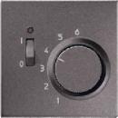 ALTR231PLAN LS 990 АнтрацитНакладка термостатакомнатного с выключателем(мех TR231U,TR241U)