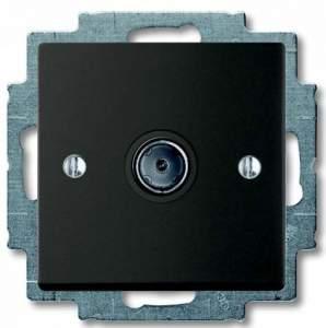 B 1743-01-95-507 BJB Basic 55 DIY Шато (чёрн) Розетка TV оконечная