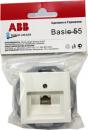 B 1803-94-RJ11 BJB Basic 55 DIY Бел Розетка Телефонная 1-ая