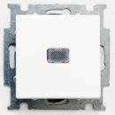 1012-0-2153 (2006/1 UCGL-94) BJB Basic 55 Бел Выключатель 1-клавишный с подсветкой