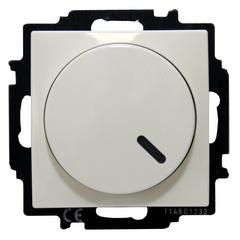 6515-0-0842 (2251 UCGL-94) BJB Basic 55 Бел Светорегулятор поворотно-нажимной 60-400 Вт для л/н