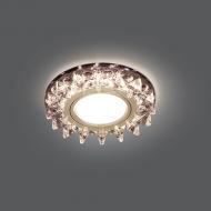 Светильник Gauss Backlight BL035 Кругл. Черный/Кристалл/Хром, Gu5.3, LED 2700K 1/40