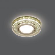 Светильник Gauss Backlight BL048 Кругл. Шампань/Кристалл/Хром, Gu5.3, LED 2700K 1/40