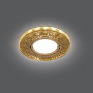 Светильник Gauss Backlight BL078 Круг Золото/Кристалл/Золото, Gu5.3, LED 2700K 1/40