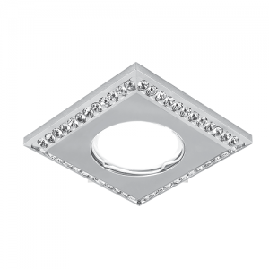 Светильник Gauss Strass CA036 Квадрат. Кристал/Хром, Gu5.3 1/30