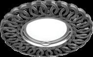 Светильник Gauss Antique CA042 Круг. Серебро/Черный Gu5.3 1/40