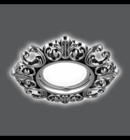Светильник Gauss Antique CA045 Круг. Серебро/Черный Gu5. 1/40