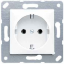 CD120LG CD 500/CD plusСветло-серый Розетка с/з для установки под откидную крышку,50х50мм,безвин зажим