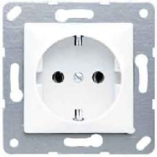 CD120WW CD 500/CD plusБел Розетка с/з для установки под откидную крышку, размер 50х50, безвинт зажим