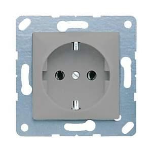 CD121PG CD 500/CD plusПлатина Розетка с/з для установки под откидную крышку,размер 50х50,винт зажим