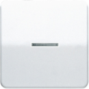 CD1561.07FKOWW CD 500/CD plusБел Накладка светорегулятора/выключателя нажимного с ДУ(радио) с индикацией
