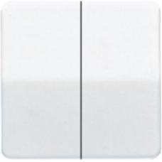CD1565.07 CD 500/CD plusБел Накладка светорегулятора 2-х канального нажимного