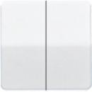 CD1565.07SW CD 500/CD plusЧерный Накладка светорегулятора 2-х канального нажимного
