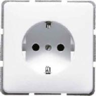 CD520BFLG CD ударопр. Светло-серыйРозетка с/з безвинт. зажим