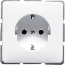 CD520KIBFSW CD ударопр. ЧерныйРозетка с/з с защитными шторками безвинт. зажим