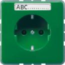 CD520KINABFGN CD 500/CD plusЗеленый Розетка с/з с защитными шторками и полем для надписи