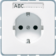 CD520NABFBR CD ударопр. КоричневыйРозетка с/з с полем для надписи безвинт. зажим