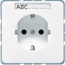 CD520NALG CD 500/CD plusСветло-серый Розетка с/з с полем для надписи безвинт зажим
