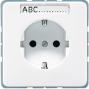 CD520NASW CD 500/CD plusЧерный Розетка с/з с полем для надписи безвинт зажим