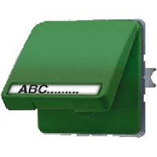 CD520NAWUGN CD 500/CD plusЗеленый Розетка с/з с крышкой и полем для надписи