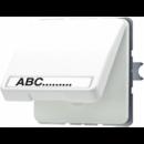 CD520NAWULG CD 500/CD plusСветло-серый Розетка с/з с крышкой с полем для надписи
