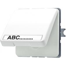 CD520NAWUO CD 500/CD plusОранжевый Розетка с/з с крышкой и полем для надписи