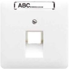 CD569-1NAUABR CD 500/CD plusКоричневый Накладка 1-ой наклонной ТЛФ/комп розетки с полем для надписи