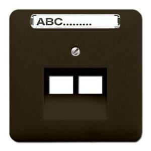 CD569-2NAUABR CD 500/CD plusКоричневый Накладка 2-ой наклонной ТЛФ/комп розетки с полем для надписи