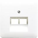 CD569-2UAWW CD 500/CD plusБел Накладка 2-ой наклонной ТЛФ/комп розетки