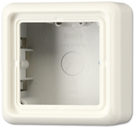 CD581AW CD 500/CD plusБеж Коробка для накладного монтажа 1-я с рамкой