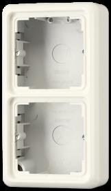 CD582AW CD 500/CD plusБеж Коробка для накладного монтажа 2-я с рамкой