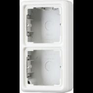 CD582AWW CD 500/CD plusБел Коробка для накладного монтажа 2-я с рамкой