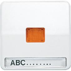 CD590NAKOWW CD 500/CD plusБел Клавиша 1-я с/п с оранжевой линзой с полем для надписи