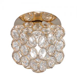Светильник Gauss Brilliance CR063 Куб Кристалл/Золото, G9