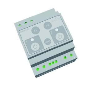 DIN-модуль - Диммер (холодный катод), двухканальный, Z- wave - Vitrum Modulo DIN II catodo freddo alim. ferromagn.