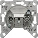 EDU04F Мех Розетка TV-FM оконечная (TV до 2400 МГц, FM 87.5-139 МГц)