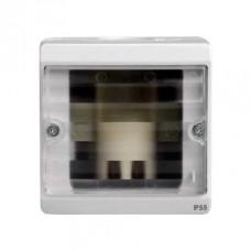 ENN34523 Бокс для сигнальной лампы, прозрачное стекло, о/у в сборе, серый IP55