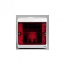 ENN34526 Бокс для сигнальной лампы, красное стекло, о/у в сборе, серый IP55