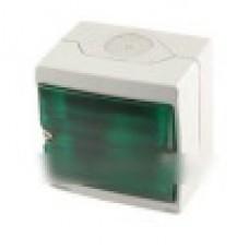 ENN34527 Бокс для сигнальной лампы, зеленое стекло, о/у в сборе, серый IP55