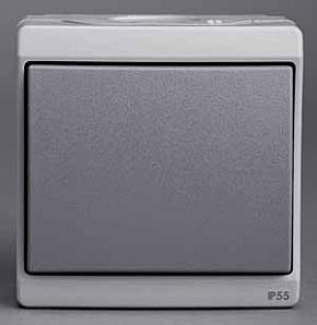 ENN35721 Одноклавишный выключатель о/у ,серый, в сборе IP55