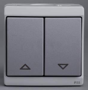 ENN35741 Выключатель для жалюзи, мех., блок., серый IP55